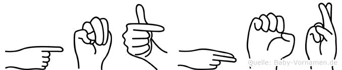 Günther im Fingeralphabet der Deutschen Gebärdensprache