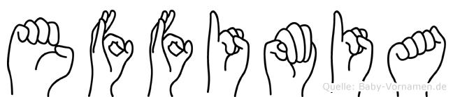 Effimia in Fingersprache für Gehörlose