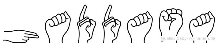 Haddasa im Fingeralphabet der Deutschen Gebärdensprache
