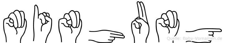 Minhung im Fingeralphabet der Deutschen Gebärdensprache