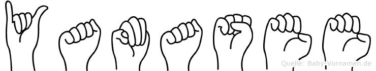 Yamasee im Fingeralphabet der Deutschen Gebärdensprache