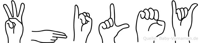 Whiley im Fingeralphabet der Deutschen Gebärdensprache