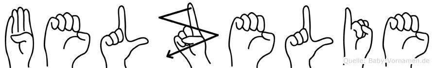 Belzelie im Fingeralphabet der Deutschen Gebärdensprache