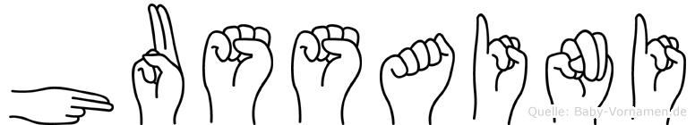 Hussaini im Fingeralphabet der Deutschen Gebärdensprache