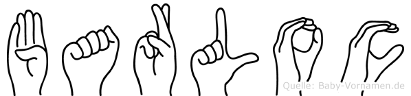 Barloc im Fingeralphabet der Deutschen Gebärdensprache