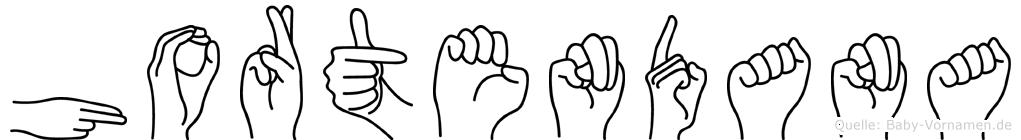 Hortendana im Fingeralphabet der Deutschen Gebärdensprache