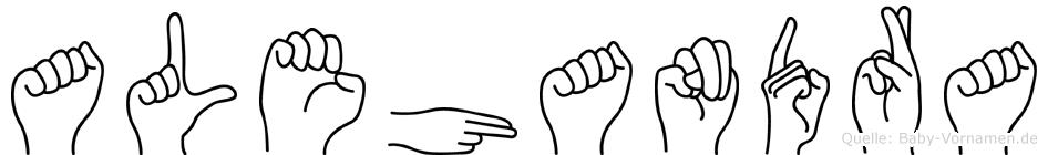 Alehandra in Fingersprache für Gehörlose