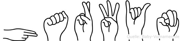 Harwyn im Fingeralphabet der Deutschen Gebärdensprache