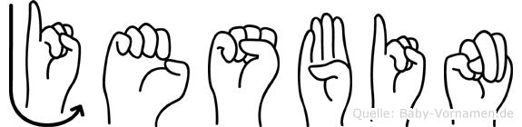 Jesbin in Fingersprache f�r Geh�rlose