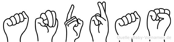 Andras im Fingeralphabet der Deutschen Gebärdensprache