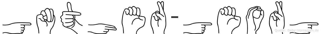Günther-Georg im Fingeralphabet der Deutschen Gebärdensprache