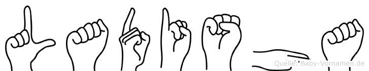 Ladisha in Fingersprache für Gehörlose