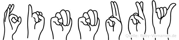 Finnury im Fingeralphabet der Deutschen Gebärdensprache
