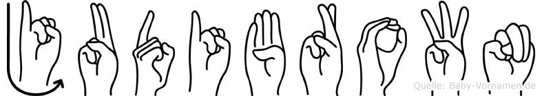 Judibrown in Fingersprache für Gehörlose