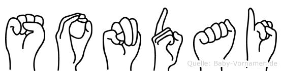 Sondai im Fingeralphabet der Deutschen Gebärdensprache