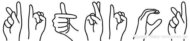 Kitrick im Fingeralphabet der Deutschen Gebärdensprache