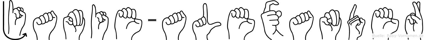 Jamie-Alexander im Fingeralphabet der Deutschen Gebärdensprache