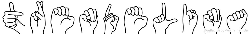 Trendelina im Fingeralphabet der Deutschen Gebärdensprache