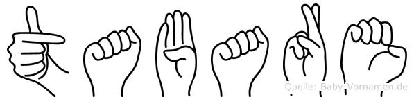 Tabare in Fingersprache für Gehörlose