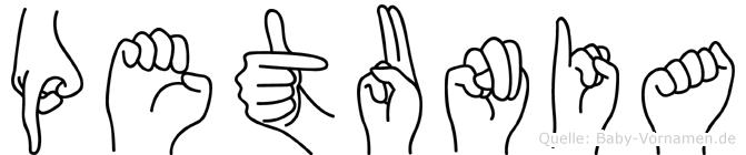 Petunia in Fingersprache für Gehörlose