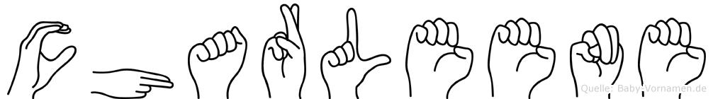 Charleene im Fingeralphabet der Deutschen Gebärdensprache