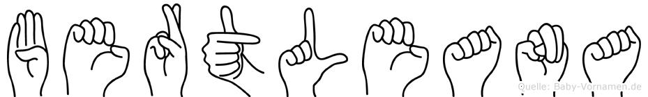 Bertleana in Fingersprache für Gehörlose