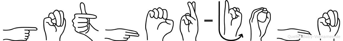 Günther-John im Fingeralphabet der Deutschen Gebärdensprache