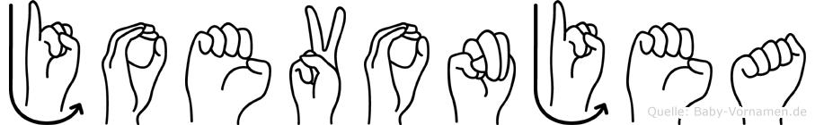 Joevonjea im Fingeralphabet der Deutschen Gebärdensprache