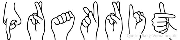 Prakrit im Fingeralphabet der Deutschen Gebärdensprache