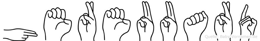 Hereuuard in Fingersprache für Gehörlose