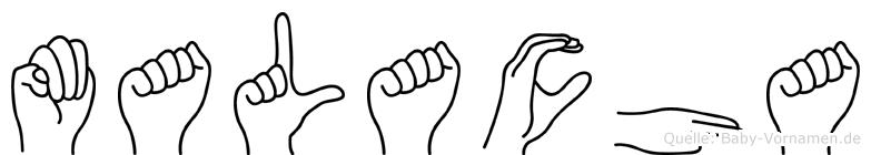 Malacha in Fingersprache für Gehörlose