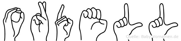 Ordell in Fingersprache für Gehörlose