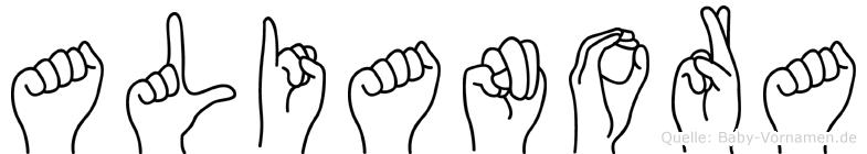 Alianora in Fingersprache für Gehörlose