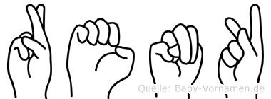 Renk im Fingeralphabet der Deutschen Gebärdensprache