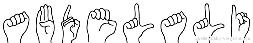 Abdelali im Fingeralphabet der Deutschen Gebärdensprache