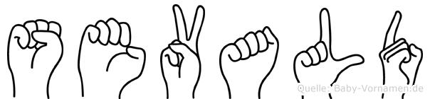 Sevald im Fingeralphabet der Deutschen Gebärdensprache