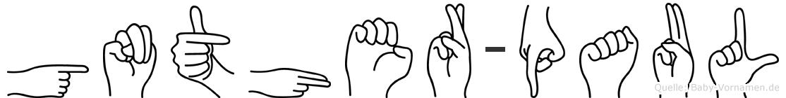 Günther-Paul im Fingeralphabet der Deutschen Gebärdensprache