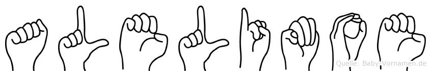Alelimoe im Fingeralphabet der Deutschen Gebärdensprache