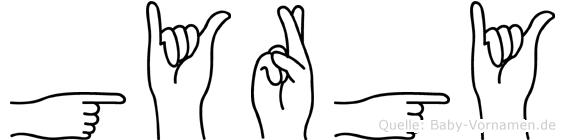 György in Fingersprache für Gehörlose