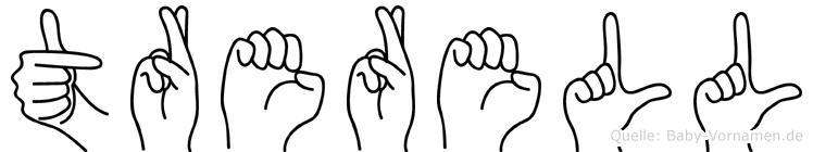Trerell in Fingersprache für Gehörlose