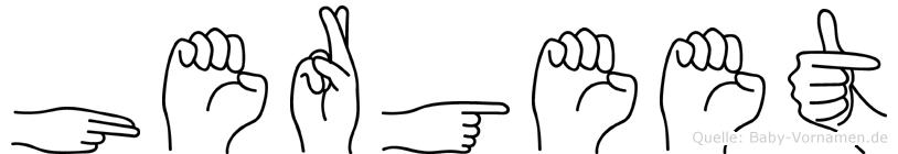 Hergeet im Fingeralphabet der Deutschen Gebärdensprache