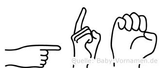 Göde im Fingeralphabet der Deutschen Gebärdensprache