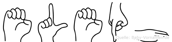 Eleph im Fingeralphabet der Deutschen Gebärdensprache