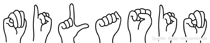 Milasin im Fingeralphabet der Deutschen Gebärdensprache