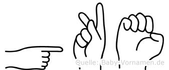 Göke in Fingersprache für Gehörlose