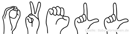 Ovell in Fingersprache für Gehörlose