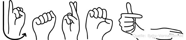 Jareth im Fingeralphabet der Deutschen Gebärdensprache