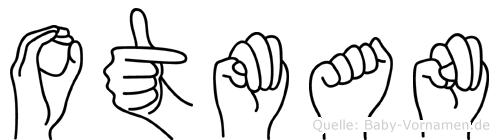 Otman im Fingeralphabet der Deutschen Gebärdensprache