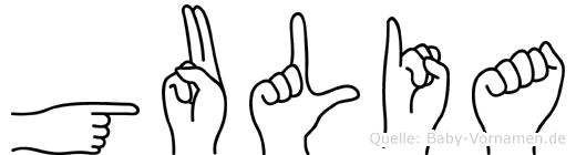 Gulia in Fingersprache für Gehörlose