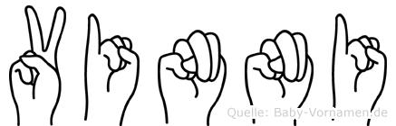 Vinni im Fingeralphabet der Deutschen Gebärdensprache